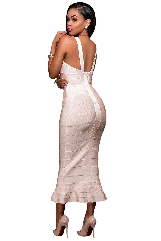 Qualitäts-Frauen elegante Fishtail Luxe-Verband-Kleid-Abend-Partei ...