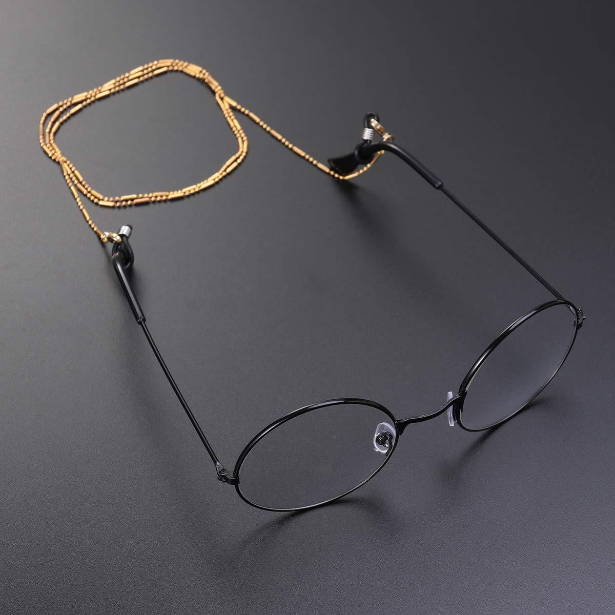 dorato SUPVOX Corda per occhiali cordino per occhiali Occhiali catena Fermaocchiali Antiscivolo