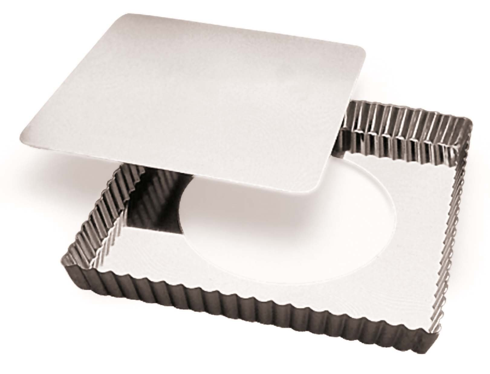 Paderno World Cuisine''Deep Fluted Tin Tart Mold'' with Removable Bottom, 12.5-Inch