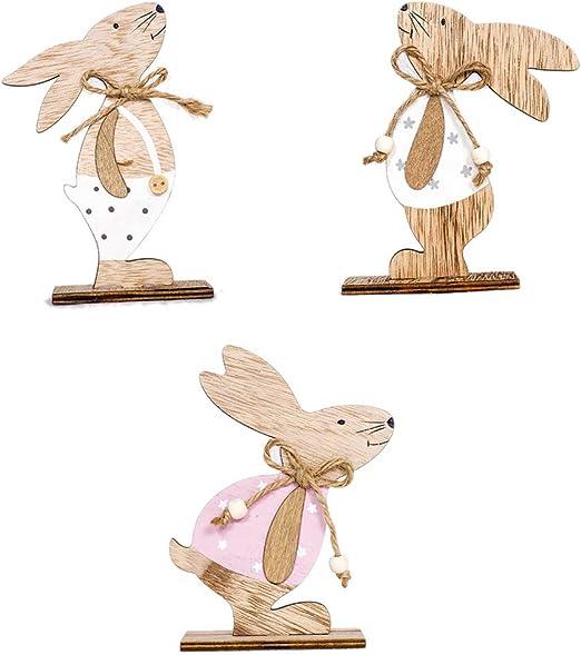 26 cm de Large env Figurine de Lapin en Bois
