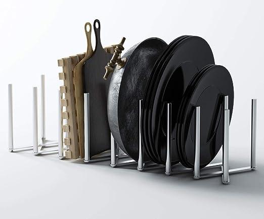 Ikea VARIERA Stainless Steel Pot Pan Lid Stand Rack Organiser NEW