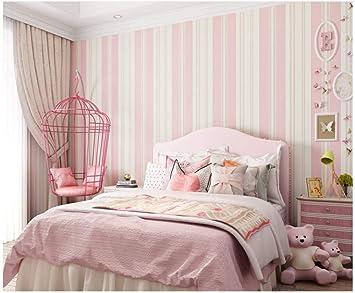 Vlies Tapete Rosa Breite Vertikale Streifen Tapete Dekorativ Fur Wohnzimmer Tv Sofa Schlafzimmer Wandverkleidung Hintergrundtapete Amazon De Baumarkt