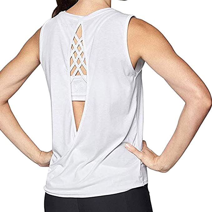 yoga palestra Camo Crop canotta da donna per allenamento spaghetti camicetta camicetta