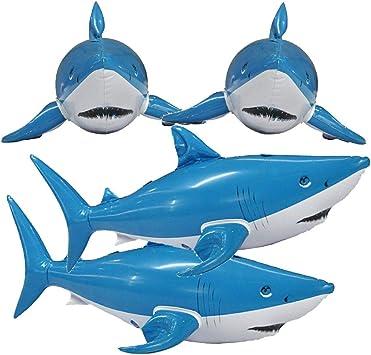 Amazon.com: Jet Creations – tiburón hinchable para animales ...