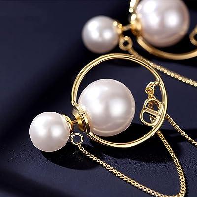 Shell Earrings Round Pearl Earrings Pearl Earrings For Bride Dainty Drop Earrings Shell Pearl Earrings White Shell  Earrings