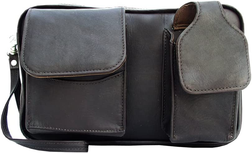 Piel Leather Carry-All Bag, Chocolate, One Size