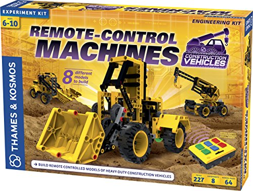 Thames & Kosmos Remote-Control Machines: Construction Vehicles | Science & Engineering Experiment Stem Kit | Build 8 Real Working Models | Parents