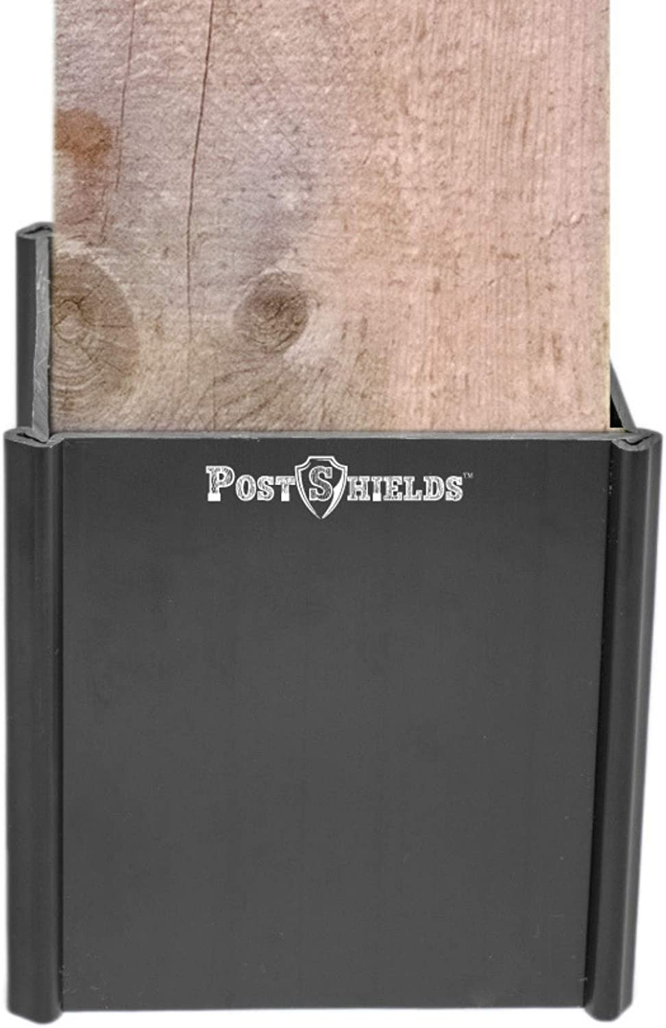Amazon Com Post Shields Post Protector This Protects Your Mailbox Deck Fence Posts From Damage By Lawn Maintenance Equipment Fits Wood Metal Posts No Tools Screws Or