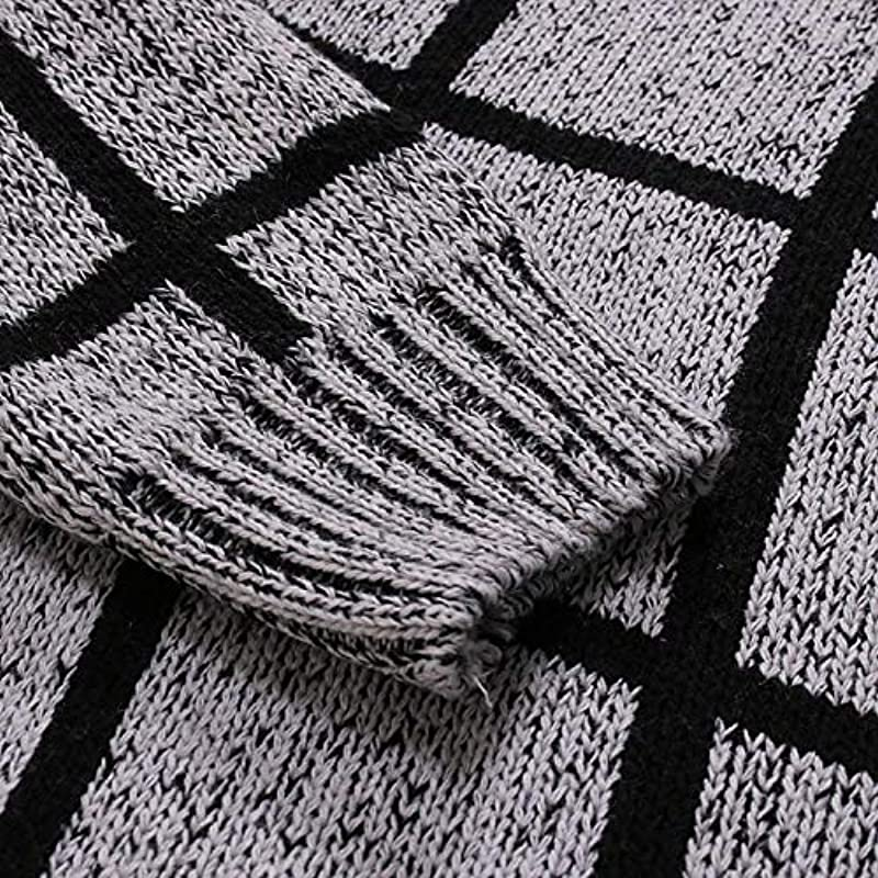 Autumn and Winter Plus Size Fashion Printed Cardigan Casual Sweater Dark_Gray_L: Küche & Haushalt