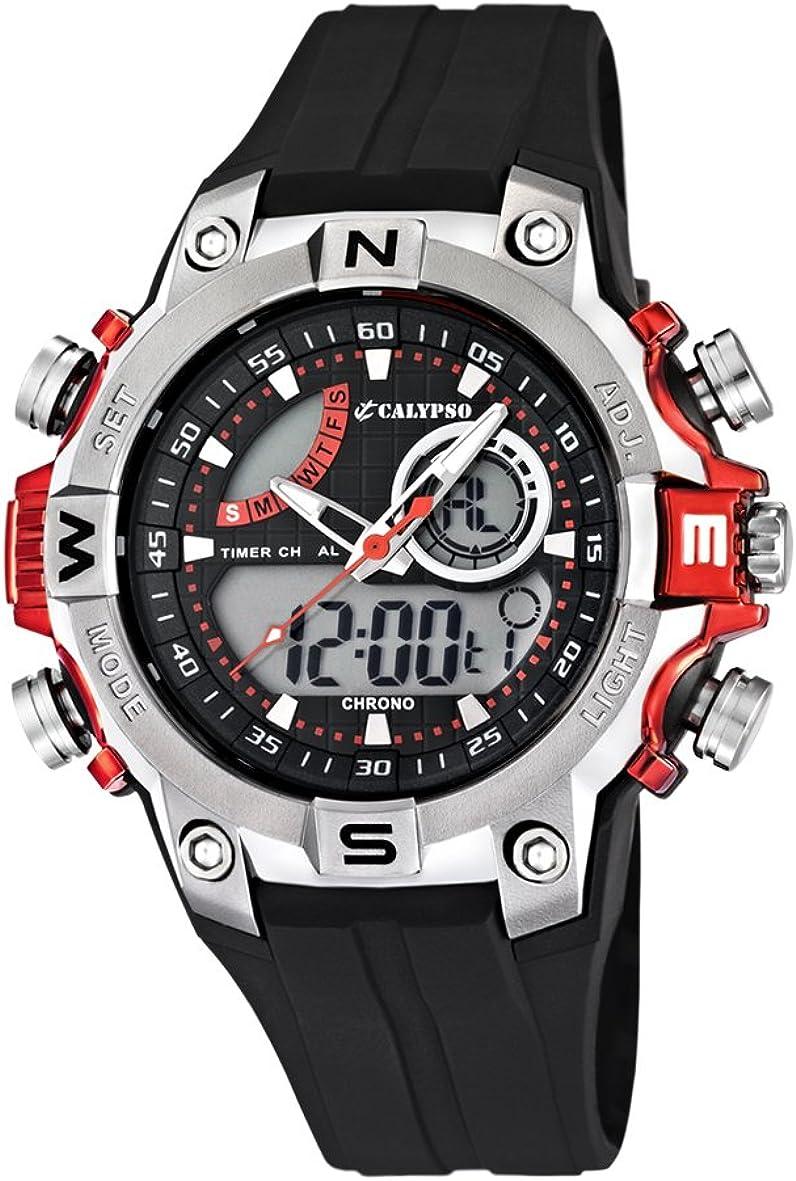 Calypso watches - Reloj Hombre K5586/3 Analógico-Digital Sumergible, color negro