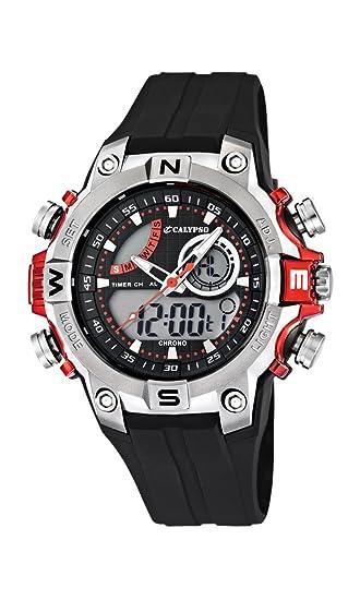 Calypso watches - Reloj Hombre K5586/3 Analógico-Digital Sumergible, color negro: Amazon.es: Relojes