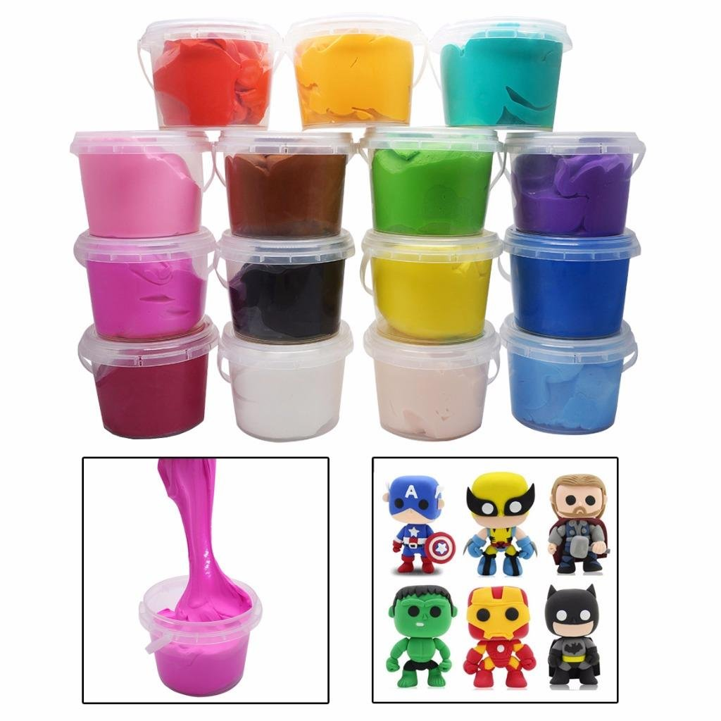 Colorful Modeling Clay & Dough Clay Air Dry Ultra Light Molding Magic Clay 15PCS Set
