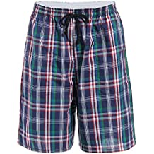 X.Y.X-Eleven Men's Cotton Plaid Lounge Sleep Shorts