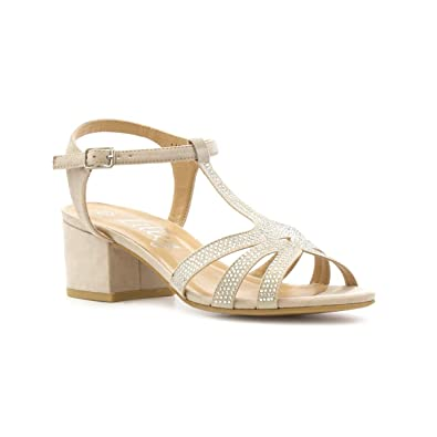 8a1d2114c Lilley Womens Nude Block Heeled Sandal  Amazon.co.uk  Shoes   Bags