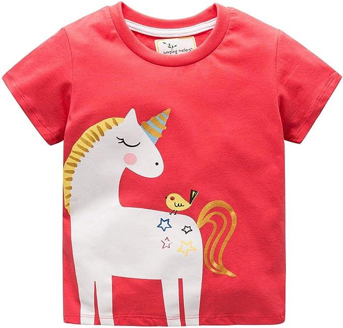 Vestidos Unicornio para niñas Camisetas de algodón Camiseta ...