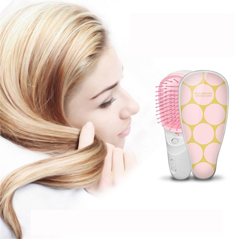 Cepillo Alisador Electrico de Negativo peine de iones, peine electrostático, mini peine portátil para el cuidado del cabello: Amazon.es: Belleza