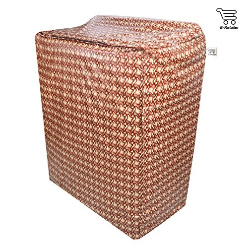 E-Retailer™ Brown Wooden Texture Design Semi-Automatic Washing Machine Cover Upto 7.5 Kg Capacity 61T3y8oX9HL India 2021