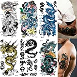 Supperb Mix Dragons Temporary Tattoo/6-pack (Traditional Set)