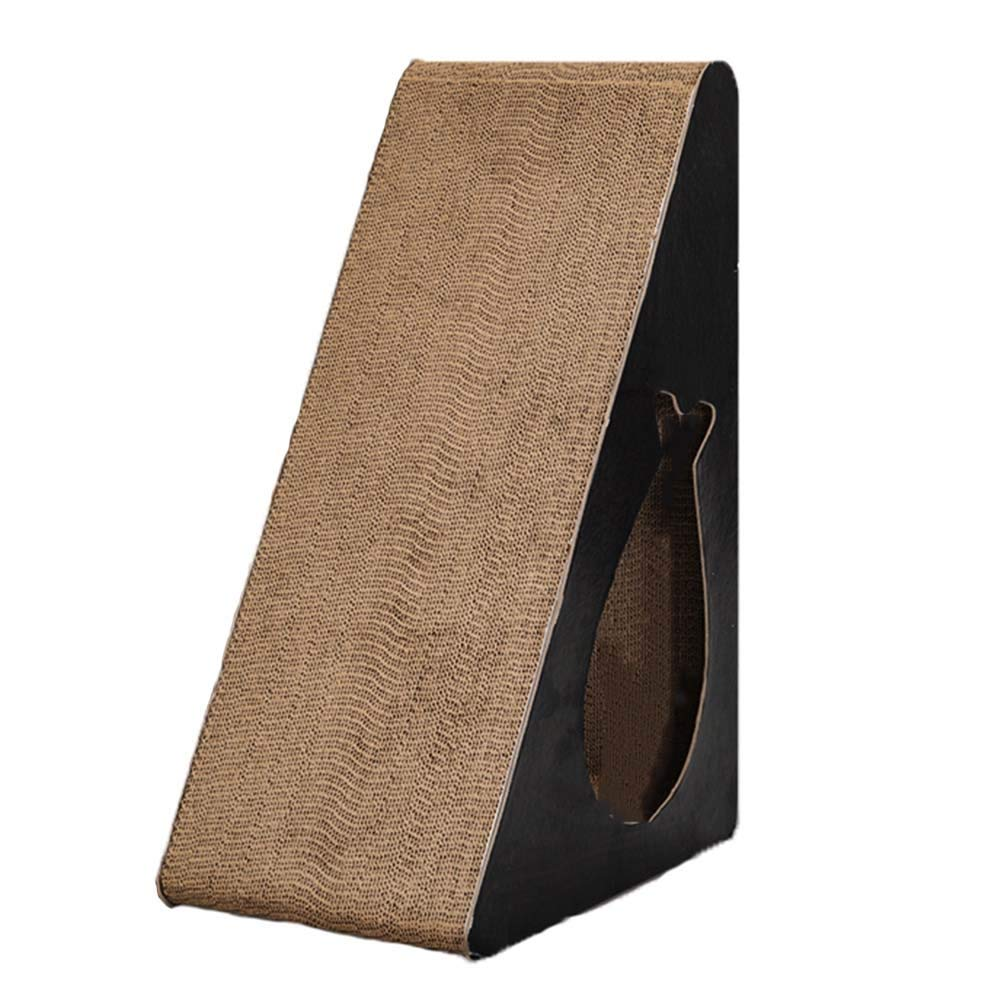 Beige 24.5x35x55cmSHIJINHAOCat tree greenical Wear Resistant Corrugated Cardboard 3 Corners With Apartment Toy Grab Posts, 3 Styles, Can Be Combined (color   Beige, Size   24.5x35x55cm)