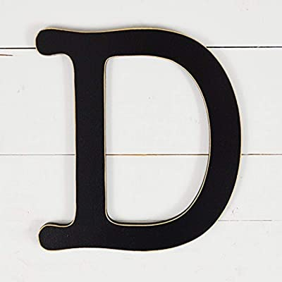 "UNFINISHEDWOODCO 11.5"" Typewriter Wall Decor Letter D-Black: Home & Kitchen"