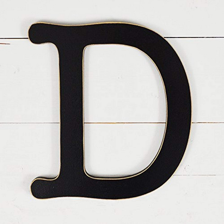 "UNFINISHEDWOODCO 11.5"" Typewriter Wall Decor Letter D-Black"