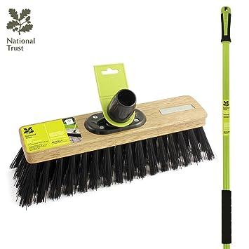 Universal brush broom with handle for garden balcony room