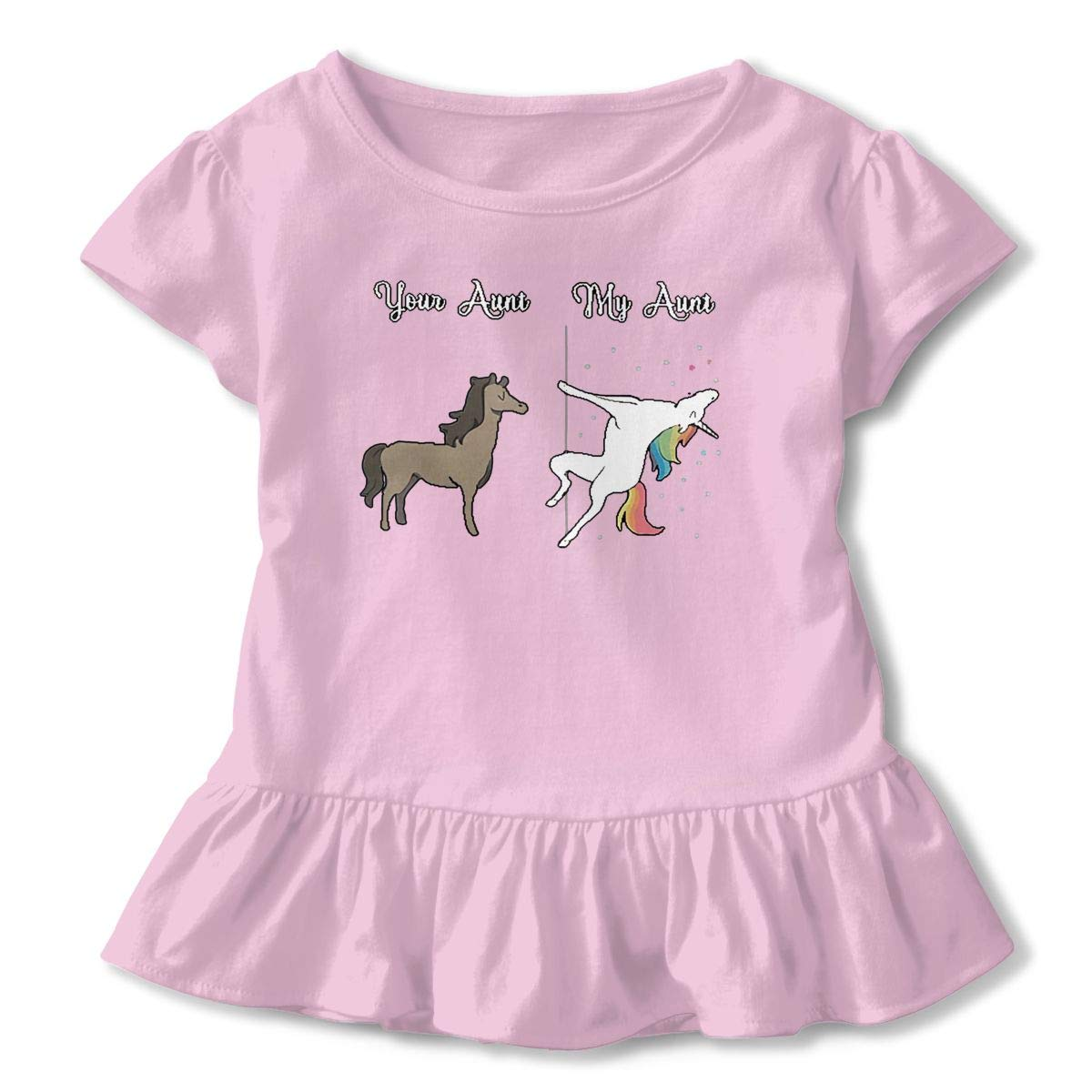 NMDJC CCQ Your Aunt My Aunt Baby Skirts Lovely Kids T Shirt Dress Soft Flounces Outfits