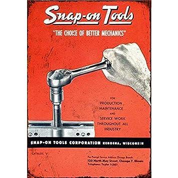 Amazon.com: YOMIA Metal Signs Vintage Snap-on Tools Tin Sign ...