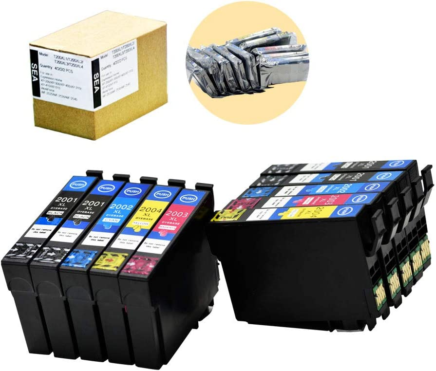 SEA 10pack Compatible Ink Cartridges Replacement for Epson 200 200XL Work for Epson XP-100 XP-200 XP-300 XP-400 XP-410 XP-310 WF-2510 WF-2520 WF-2530 WF-2540 Printer