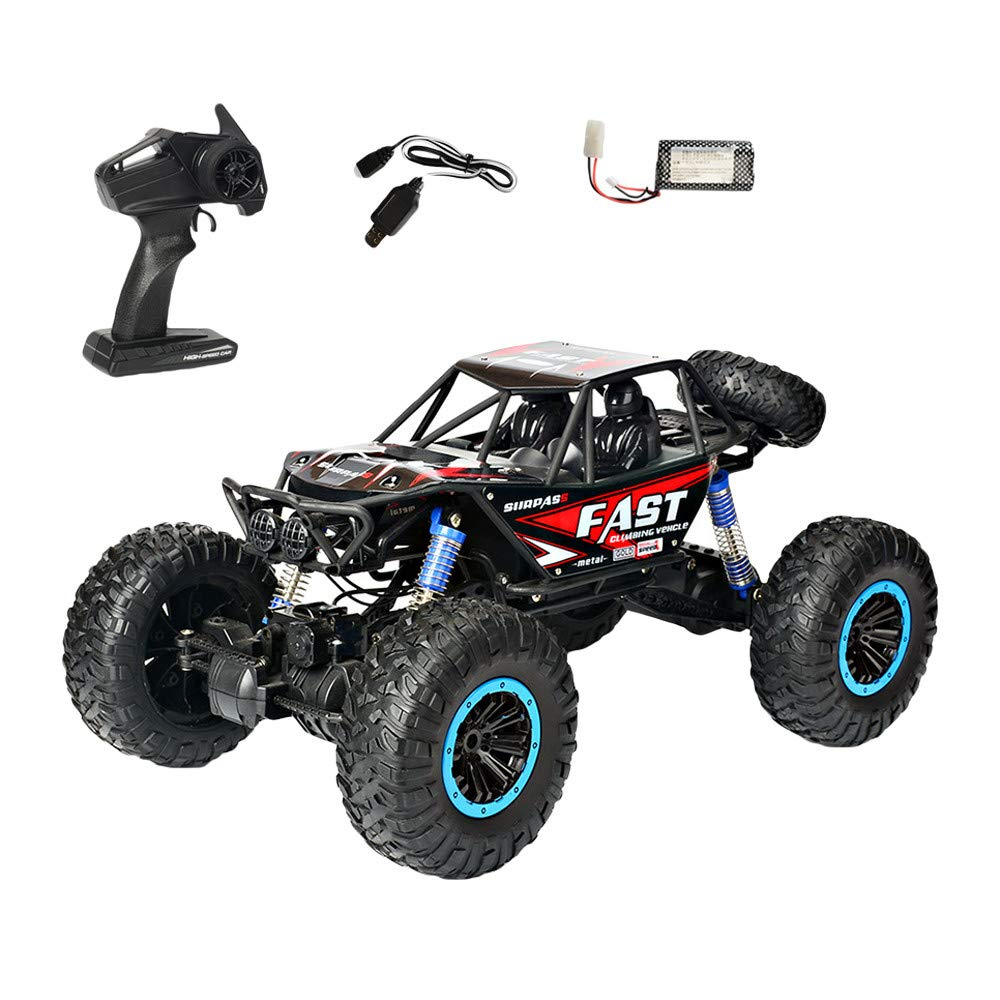 Choosebuy❤️ Radio 4D Off-Road RC Car Racing, 1:10 Scale 2.4GHz 30km/h High Speed Climbing Remote Control Vehicle Toys Kids Gift (Red) by Choosebuy (Image #2)