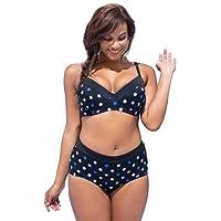 Donna Taglie Forti Bikini Set Coordinati Stampato Boemia Reggiseno Costume da Bagno Due Pezzi Plus Size Mare Spiaggia Costumi