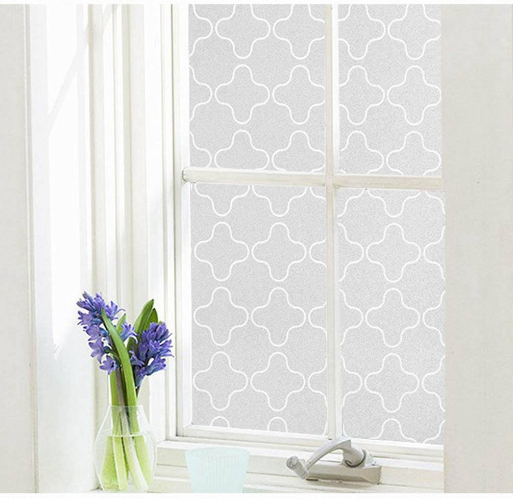 Arthome wall decor limited 60 x 254 cm AHP303 Arthome Frosted Window Film Privacy Film No Gule Static Cling Anti UV Heat Control for Home Kitchen Office Living Room Bathroom Bedroom 23.6 x 100