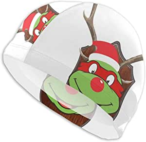 Amazon.com : TMNT Raphael Christmas Antler Head Swim Cap ...