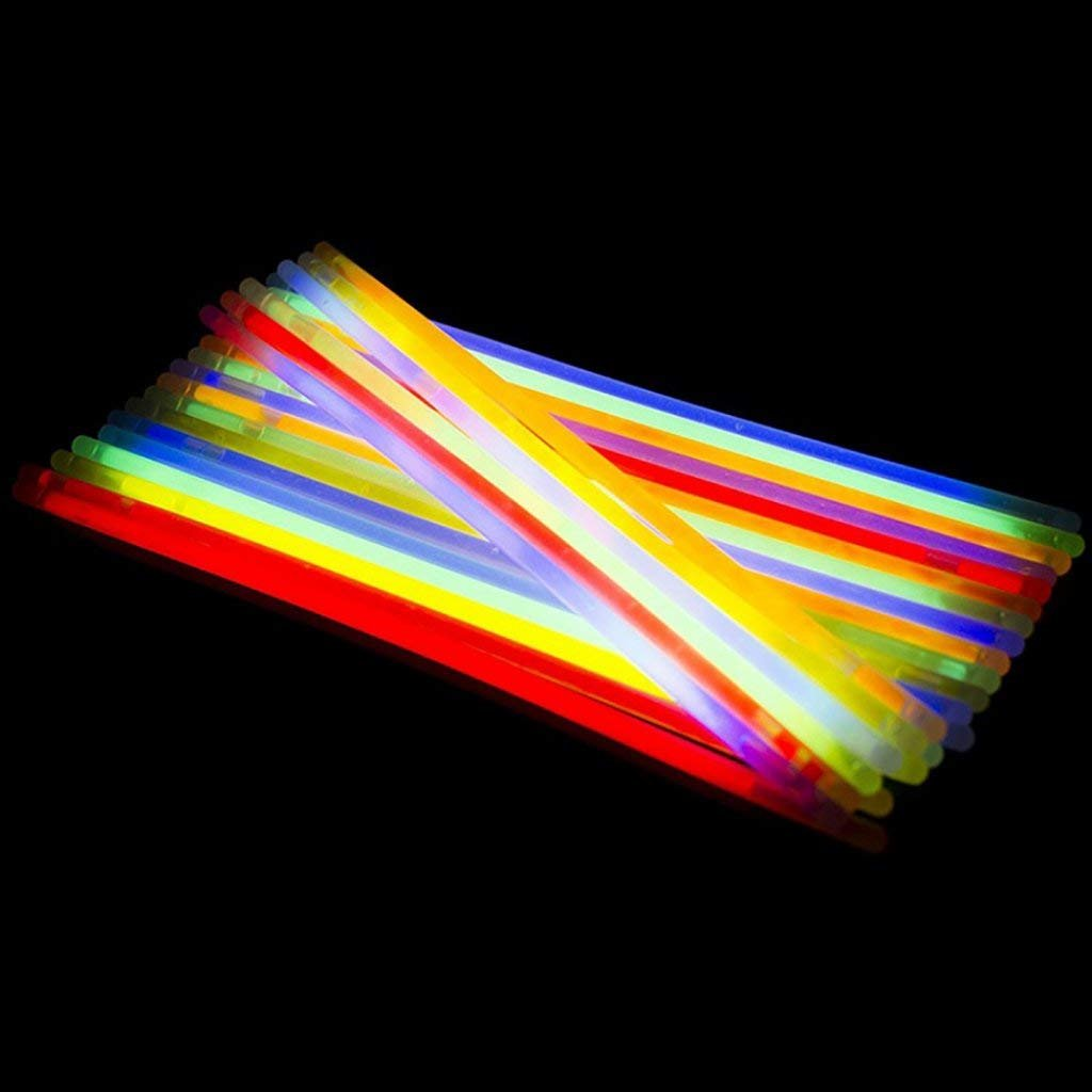 300 Glow Sticks Bulk Party Supplies - Glow in the Dark Fun Party Pack with Super Bright 8'' Glowsticks and Connectors for Bracelets and Necklaces (3 Tubes of 100)