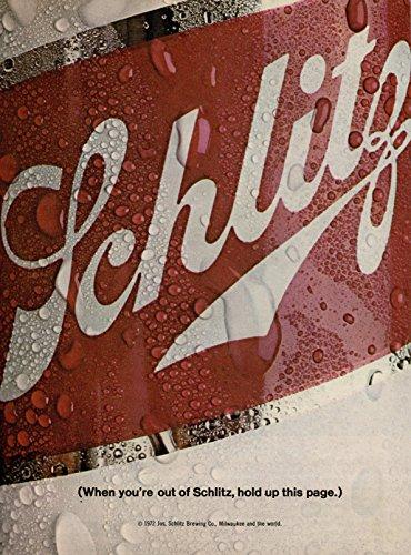 Vintage Schlitz Beer Magazine Ad-