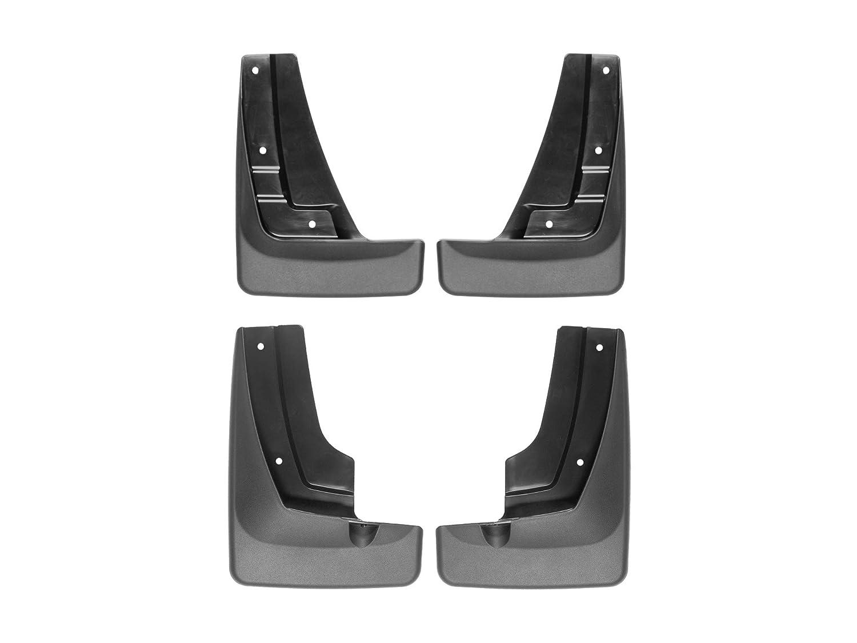 WeatherTech Custom MudFlaps for GMC Terrain 110068-120068 Front /& Rear Pair Black