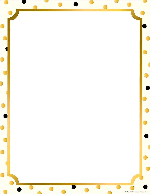 "Barker Creek Designer Computer Paper, Gold, 8.5"" x 11"", Decorative Printer Paper, Stationery, 50 Sheets per Pkg, Home, School and Office Supplies (741)"