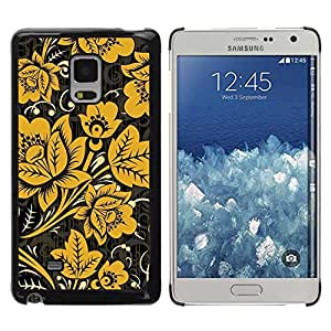 Paccase / SLIM PC / Aliminium Casa Carcasa Funda Case Cover - Mustard Black Wallpaper Vintage - Samsung Galaxy Mega 5.8 9150 9152