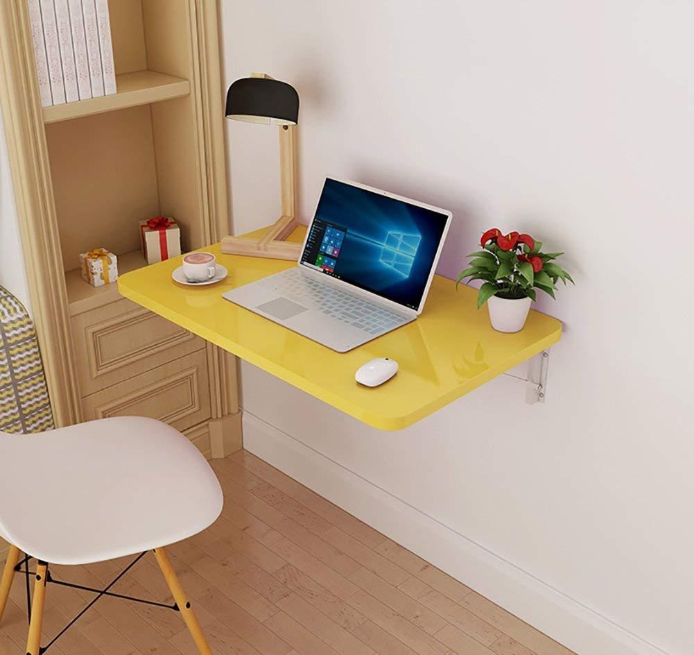 Entrega directa y rápida de fábrica 6040cm Wghz Mesa Plegable Mesa de Parojo Mesa de de de Comedor Mesa de Ordenador Mesa de Estudio Mesa de Estudio Amarillo, tamaño múltiple Opcional (Tamaño  60  40 cm)  calidad auténtica