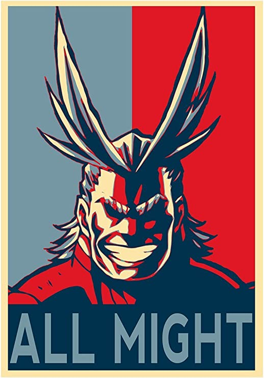 Instabuy Poster My Hero Academia Propaganda All Might - A3 (42x30 ...