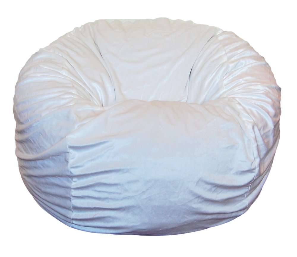 Ahh! Products Cuddle Minky White Washable Large Bean Bag Chair