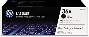 HP 36A | CB436D | 2 Toner Cartridges | Black