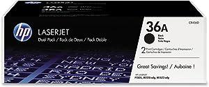 HP 36A | CB436D | 2 Toner Cartridges | Black