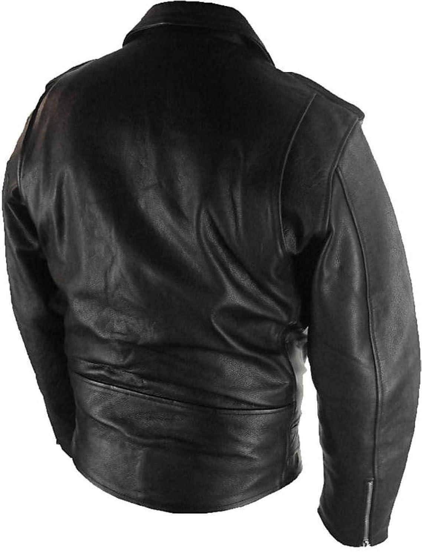 UNICORN Mann Klassiker Brando Biker Stil Echt Leder Jacke # B2