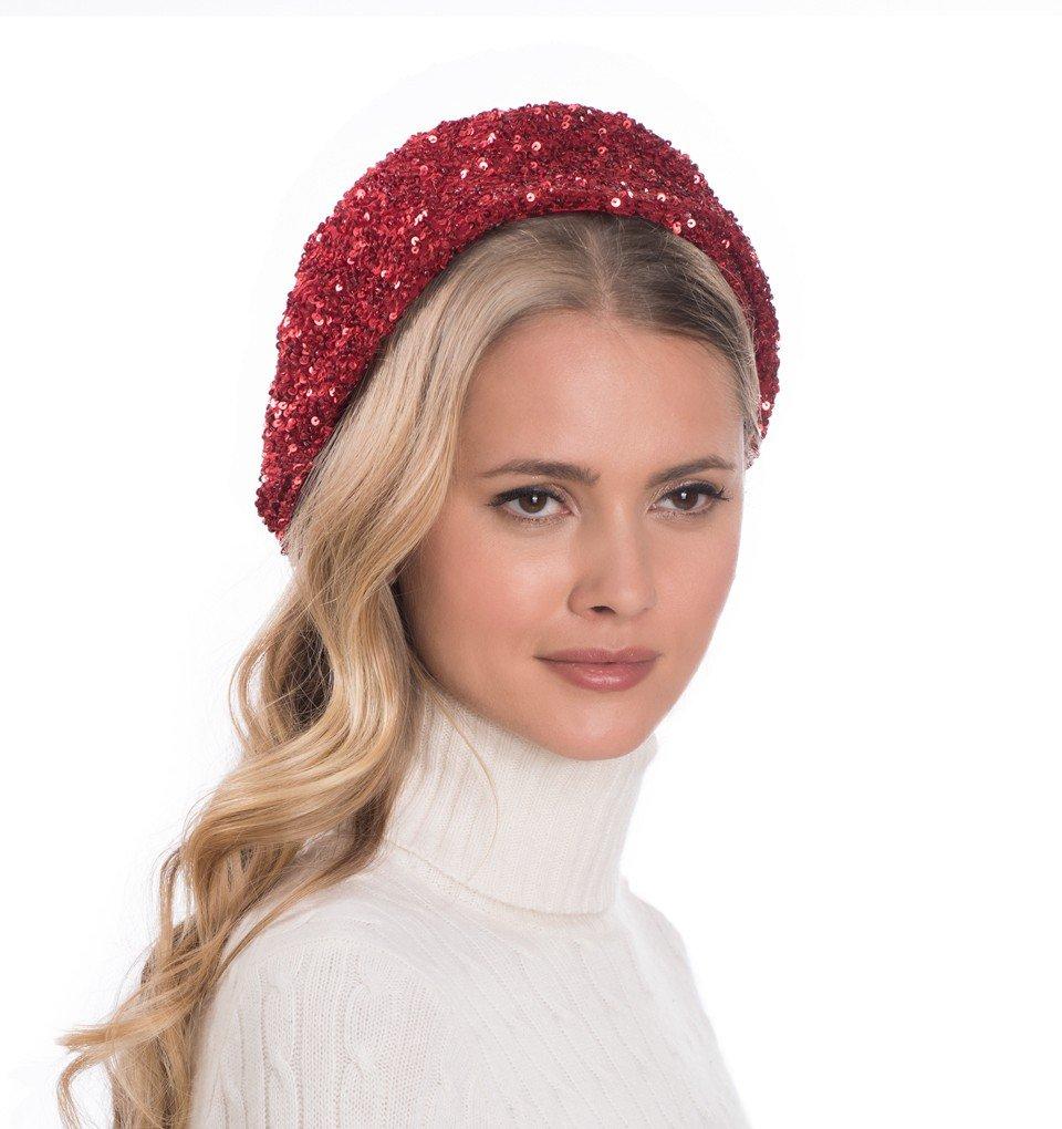Eric Javits Luxury Fashion Designer Women's Headwear Hat - Blaze - Red by Eric Javits