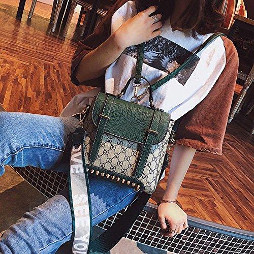 Zaino Borse Per Verde Con Cintura Donne Di Multiuso Ampia Modo Tracolla twt5qr6