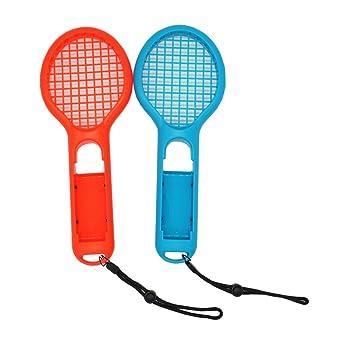 Gam3Gear Raqueta de tenis Twin Pack para agarres manuales Joy-Con controladores, Raqueta de