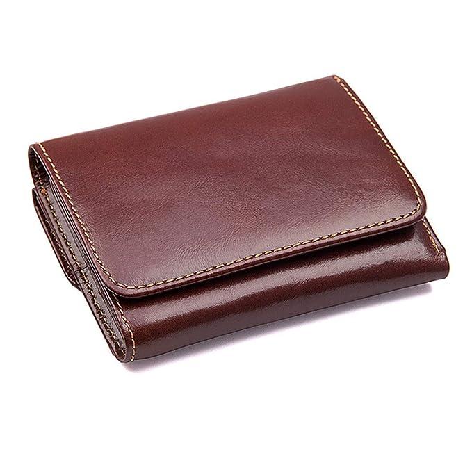 Amazon.com: Genuine Horse Leather Men Wallets Short Vintage ...