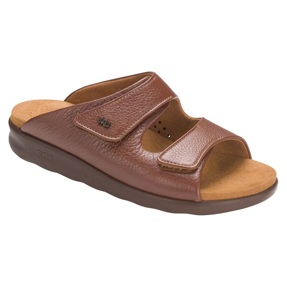 SAS Womens Cozy Leather Sandal B01M4MCFI1 10.5 W - Wide (C) US|Amber