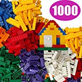 FLASH SALE | 1000 Building Bricks - Tight Fit and Compatible with All Major Brands - Most are Large Blocks